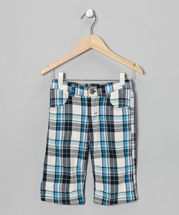Pearl Gray Plaid Shorts - Toddler & Boys
