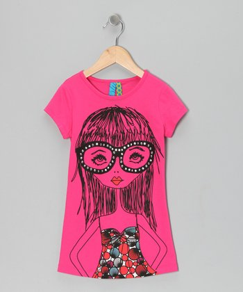 Hibiscus Glasses Girl Top - Toddler & Girls