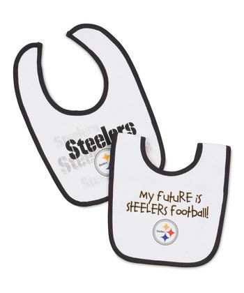 White Pittsburgh Steelers Bib Set