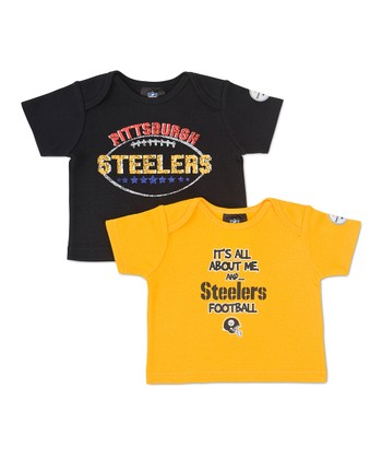 Black & Yellow Pittsburgh Steelers Tee Set - Infant
