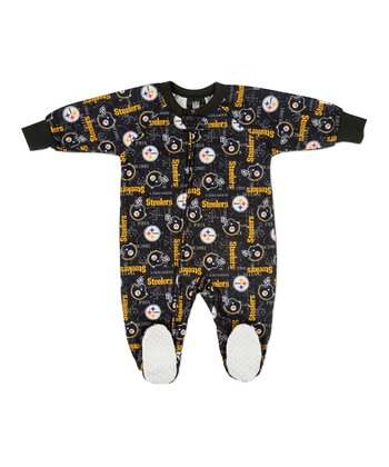 Black Pittsburgh Steelers Footie - Toddler