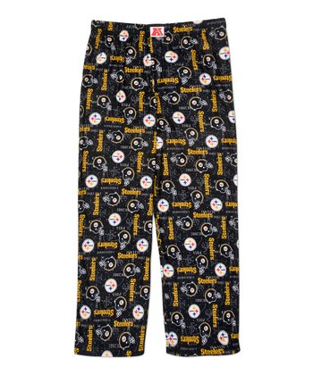 Brown Pittsburgh Steelers Pajama Pants - Kids