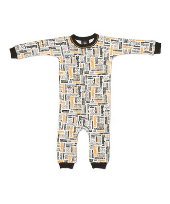 White & Orange Pittsburgh Steelers Playsuit - Infant
