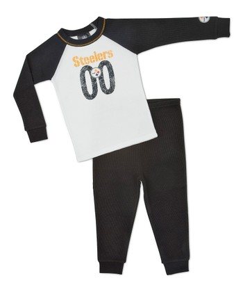 White Pittsburgh Steelers Raglan Tee & Pants - Infant & Kids