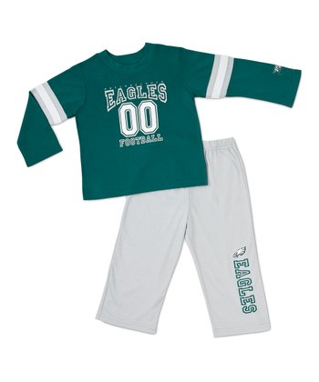 Green Philadelphia Eagles Tee & Pants - Toddler
