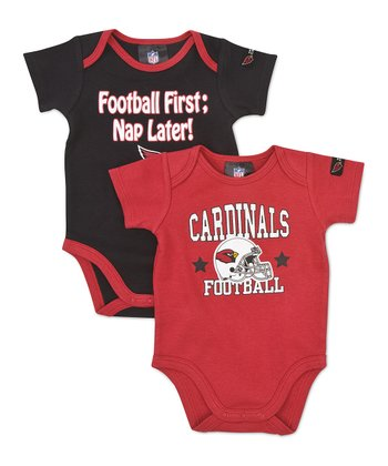 Red & Black Arizona Cardinals Bodysuit Set - Infant