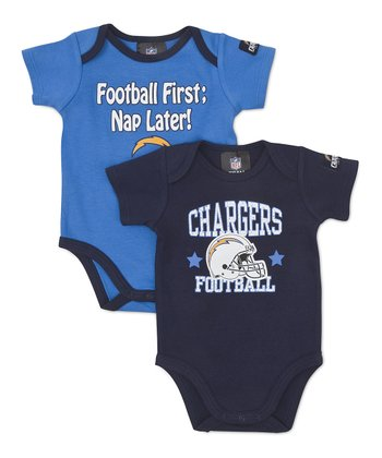 Navy & Blue San Diego Chargers Bodysuit Set - Infant