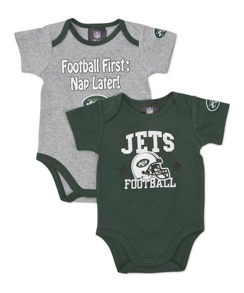 Green & Gray New York Jets Bodysuit Set - Infant