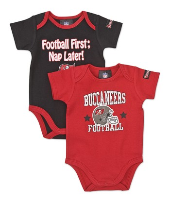 Red & Black Tampa Bay Buccaneers Bodysuit Set - Infant