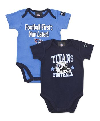 Navy & Blue Tennessee Titans Bodysuit Set - Infant