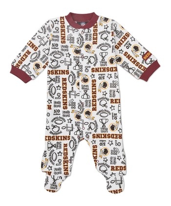 Red Washington Redskins Footie - Infant