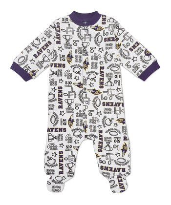 Purple Baltimore Ravens Footie - Infant