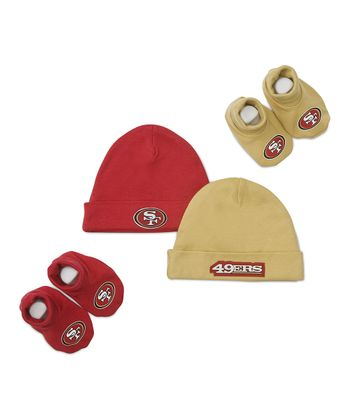 Red & Gold San Francisco 49ers Beanie & Booties Set