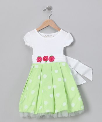 Lime Erin Dress - Infant & Toddler