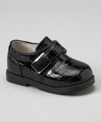 Black Crocodile Monk Strap Shoe