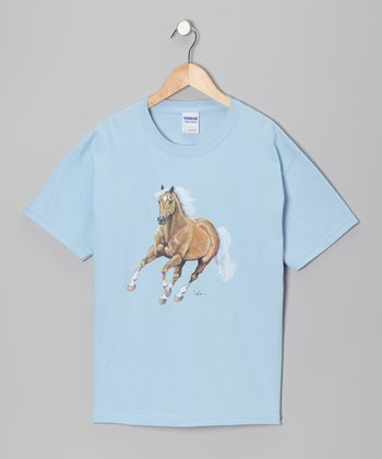 Light Blue Palomino Tee - Girls
