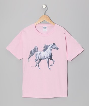 Light Pink Arabian Tee - Girls