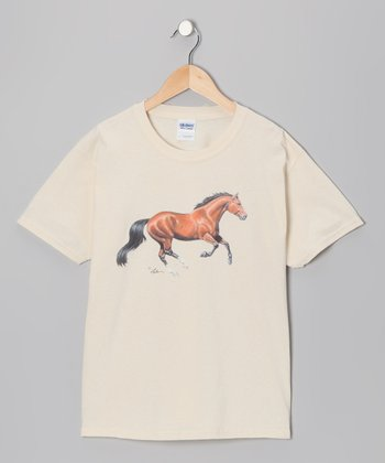 Natural Galloping Bay Tee - Girls