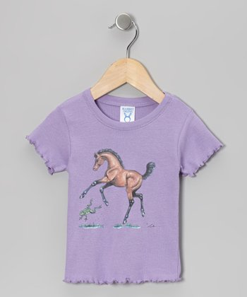 Purple Bay Foal Ruffle Tee - Toddler & Girls