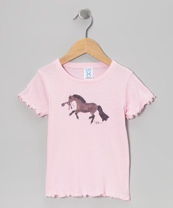 Pink Bay Pony Ruffle Tee - Toddler & Girls