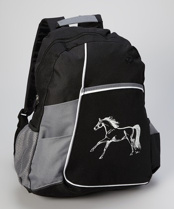 Black Galloping Horse Backpack