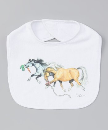 White Pony Pair Bib