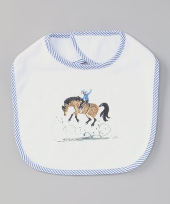 White & Blue Rodeo Bib