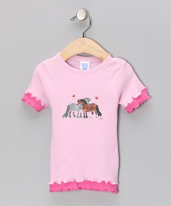Pink Pony Ruffle Tee - Toddler & Girls