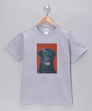 Sport Gray Black Lab Tee - Kids