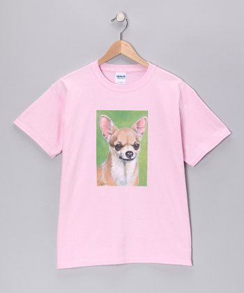 Light Pink Chihuahua Tee - Kids
