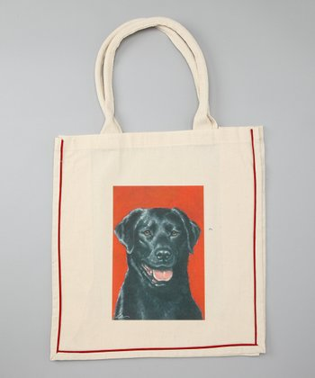 Natural Black Lab Shopper Tote