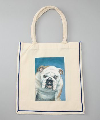 Natural Bulldog Shopper Tote