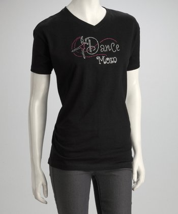 Black 'Dance Mom' Tee - Women