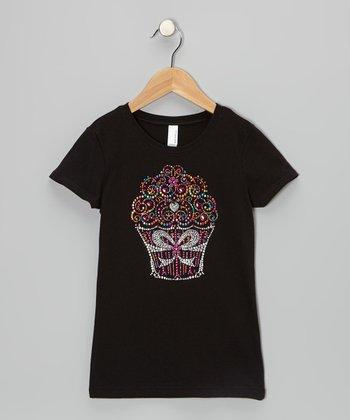 Black Cupcake Tee - Infant, Toddler & Girls