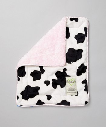 Pink Cow Security Blanket