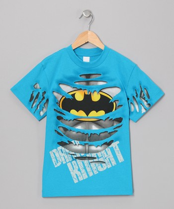 Blue Ripped Batman Tee - Toddler & Boys