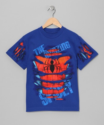Blue Ripped Spider-Man Tee - Toddler & Boys