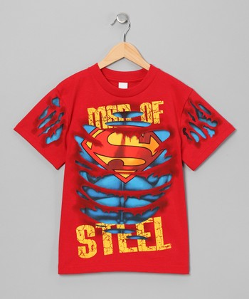 Red Ripped Superman Tee - Toddler & Boys