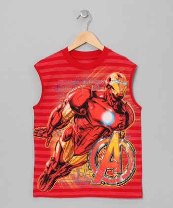 Red Iron Man Tank - Boys