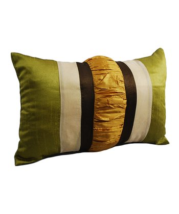Yellow & Green Silk Pillow