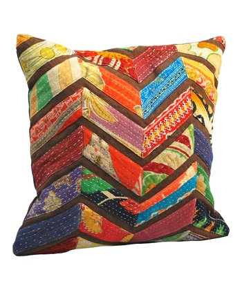 Vintage Chevron Square Pillow