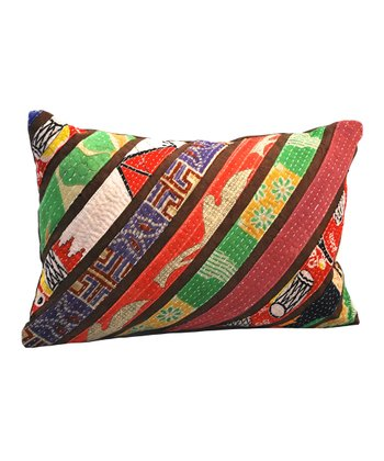 Multi Rectangle Vintage Stripe Pillow