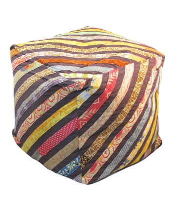 Brown Stripe Square Bean Bag