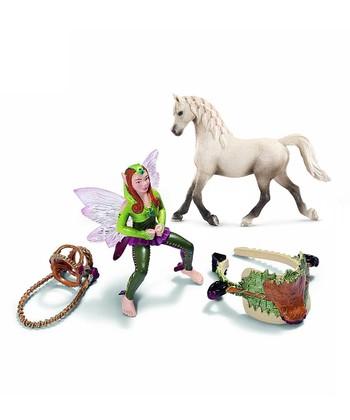 Forest Elf & Arabian Mare Figurine Set