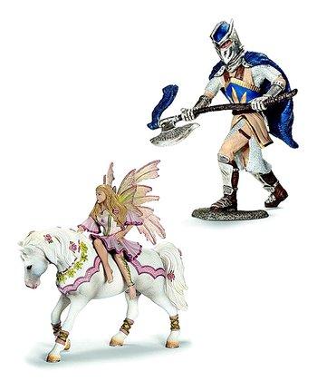 Feya & Griffin Knight Figurine Set