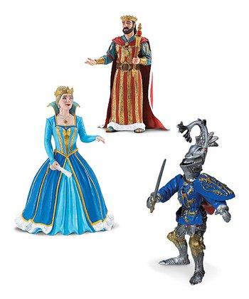 King, Queen & Knight Figurine Set
