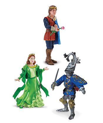Prince, Princess & Knight Figurine Set