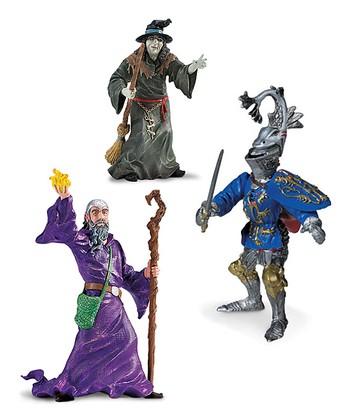 Wizard, Witch & Robert de Mamines Figurine Set