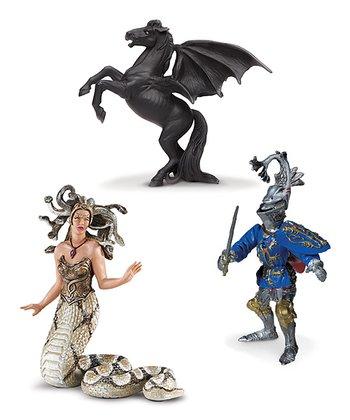 Medusa, Areion & Robert De Mamines Figurine Set
