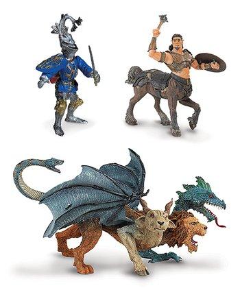 Centaur & Chimera Figurine Set & Robert De Mamines Knight